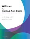 Williams V Rank  Son Buick
