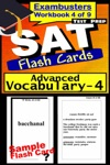 SAT Test Prep Advanced Vocabulary 4 Review--Exambusters Flash Cards--Workbook 4 Of 9
