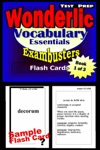 Wonderlic Test Prep Essential Vocabulary--Exambusters Flash Cards--Workbook 1 Of 3