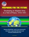 Preparing For The Future Developing An Adaptive Army In A Time Of Peace 1918-1941 - Between World War I And II Fort Leavenworth Instruction Large-Scale Maneuvers And Protective Mobilization Plan