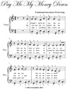 Pay Me My Money Down Easy Piano Sheet Music