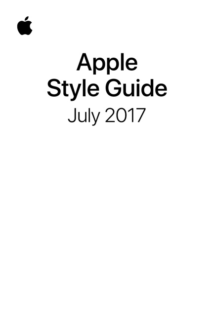 apple style guide by apple inc  on ibooks