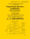 Final Exam Review Arithmetic