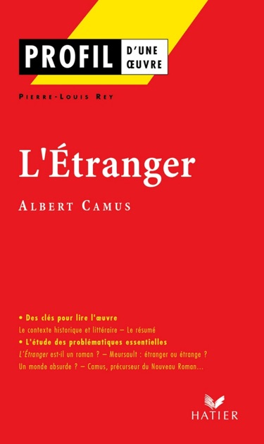 profil albert camus l Étranger by pierre louis rey albert