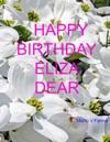 Happy Birthday Eliza Dear