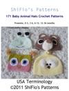 171 Animal Hats Crochet Pattern 171