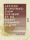 Leons Dinstruction Civique Et De Droit Administratif