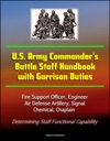US Army Commanders Battle Staff Handbook With Garrison Duties Fire Support Officer Engineer Air Defense Artillery Signal Chemical Chaplain - Determining Staff Functional Capability