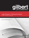 Gilbert Law Summaries On Legal Research Writing And Analysis 12th