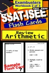 SSAT-ISEE Test Prep Arithmetic Review--Exambusters Flash Cards--Workbook 2 Of 3