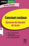 Concours Sociaux Preuve De Rsum De Texte