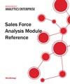 Sales Force Analysis Module Reference For MicroStrategy 95
