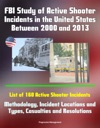 FBI Study Of Active Shooter Incidents In The United States Between 2000 And 2013 List Of 160 Active Shooter Incidents Methodology Incident Locations And Types Casualties And Resolutions