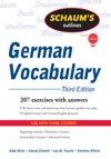 Schaums Outline Of German Vocabulary 3ed