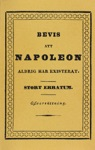 Bevis Att Napoleon Aldrig Har Existerat  Stort Erratum