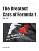 The Greatest Cars of Formula 1 (1980-2012)