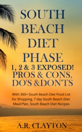 SOUTH BEACH DIET PHASE 1, 2 & 3 EXPOSED! PROS & CONS. DOS & DONTS. WITH 300+ SOUTH BEACH DIET FOOD LIST FOR SHOPPING, 7 DAY SOUTH BEACH DIET MEAL PLAN, SOUTH BEACH DIET RECIPES