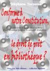 Conforme  Notre Constitution La Loi Sur Le Droit De Prt En Bibliothque