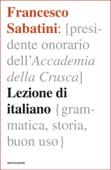 Francesco Sabatini - Lezione di italiano artwork