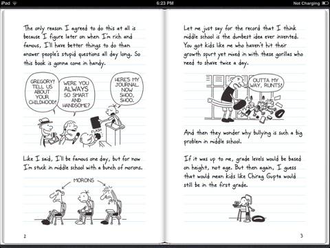 Diary of a wimpy kid by jeff kinney on ibooks screenshot 3 solutioingenieria Gallery