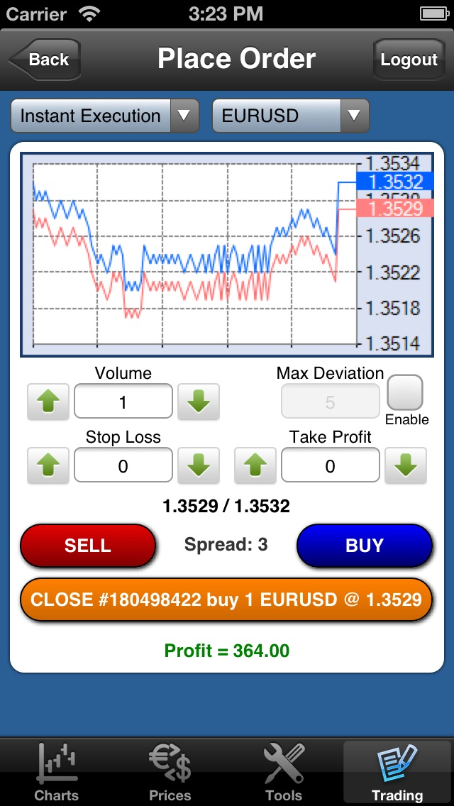 Forex On The Go Lite screenshot four