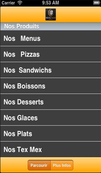 Nocte PizzaCapture d'écran de 2