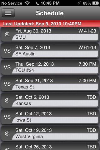 Texas Tech Football Live screenshot 3