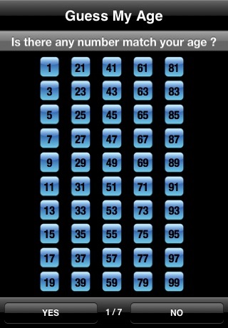 Screenshots of Guess My Age  Math Magic for iPhone