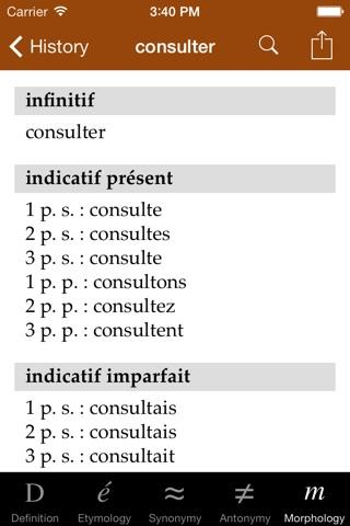 Dictionnaire de français TLFi screenshot 3