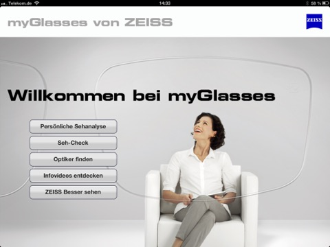 myGlasses Screenshot