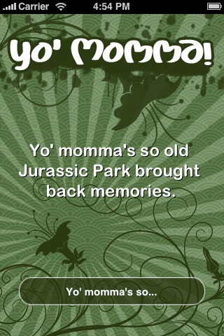 Screenshots of Yo Mama (FREE) for iPhone