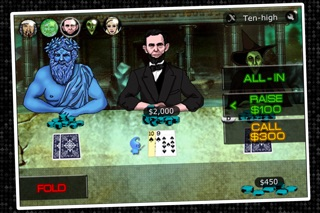 Imagine Poker ~ a Texas Hold'em series against colorful characters from world history! screenshot two