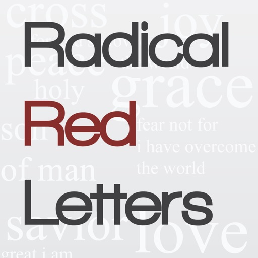 Radical Red Letters iOS App