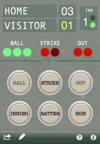 Count Keeper - Baseball and Softball score and count tracker screenshot 1