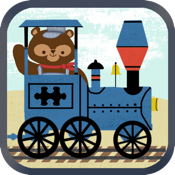 Train Games for Kids: Zoo Railroad Car Puzzles icon