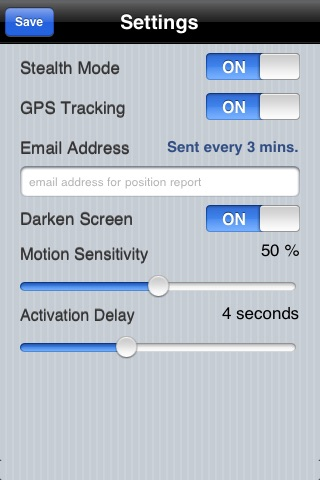 Motion Alarm screenshot 2