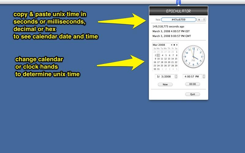 Epochulator unix time calculator app for Macs - download for MacOS