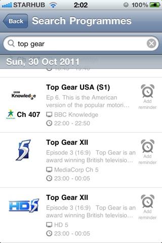 TVGuide@SG Pro screenshot 4
