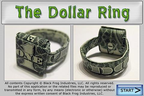 Dollar Ring Origami screenshot 1