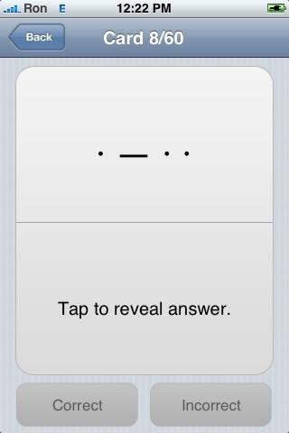 iStudy: Morse Code screenshot 1