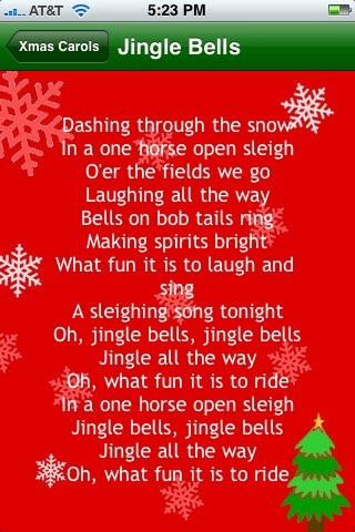 Xmas Carols Lite screenshot 2