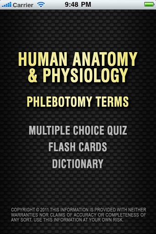 human Anatomy and Physiology Phlebotomy Terms- Over 630+ Quizzes ...