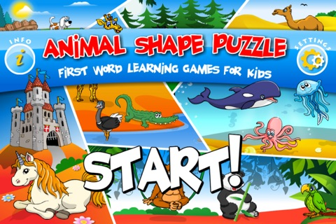 Abby - Animal Preschool Shape Puzzle Free - First Word (Farm Animals, ZOO...) screenshot 1
