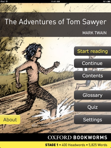 The Adventures of Tom Sawyer: Oxford Bookworms Stage 1 Reader (for iPad) screenshot 1