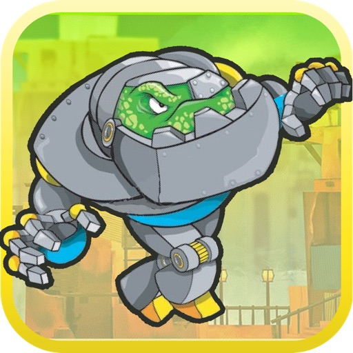 Super Jetpack Hoppy Robot Racer: Kids Robot Game iOS App