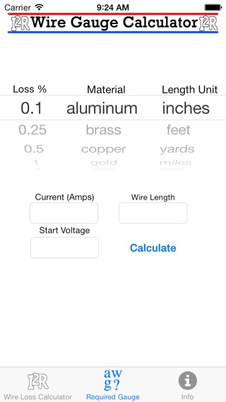 Wire gauge current length calculator gallery wiring table and wire gauge calculator on the app store iphone screenshot keyboard keysfo gallery greentooth Images