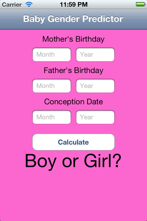 Baby Gender Calculator by xquisite