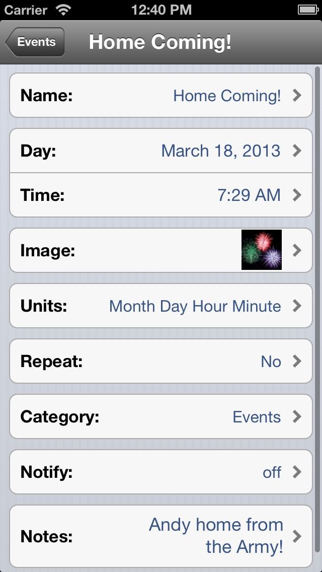 Countdown screenshot three