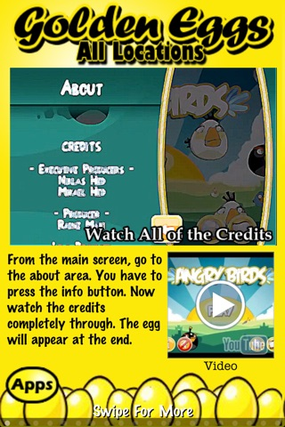 download Free Golden Eggs for Angry Birds ~ An easy guide and walkthrough of the hidden golden egg locations in Angry Birds apps 1