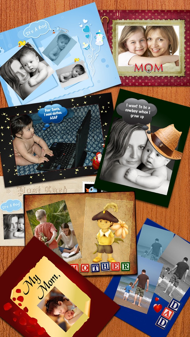 Screenshot #1 for Photo Captions Free: Frames, Cards, Collage, Text & more